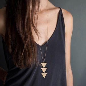 Betty- Geometric Gold Triangle Minimalist Necklace